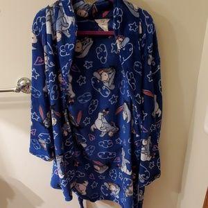 Disney eeyore fleece robe